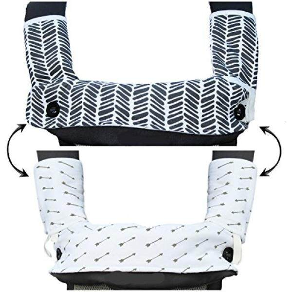 Drool and Teething Pad Reversible Organic Cotton 3-Piece set for Ergobaby Four Position 360