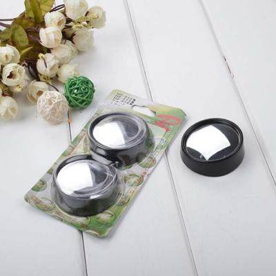 2pcs 360 Degrees Adjustable Car Small Round Mirrors Blind Spots Rearview Reverse Auxiliary Lens (BLACK)