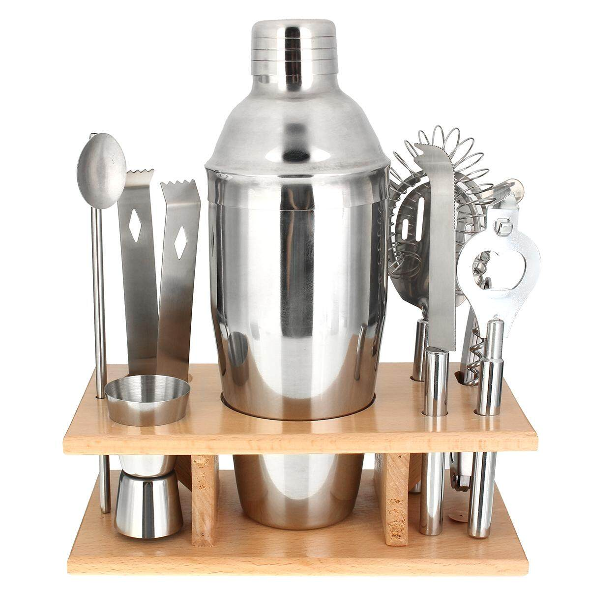 Stainless Steel Cocktail Shakers Mixer Drink Bartender Martini Bar Set Tools Kit750ml By Glimmer.