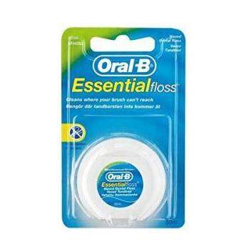 Oral B Essential Floss Waxed Dental - Mint Flavor 50m