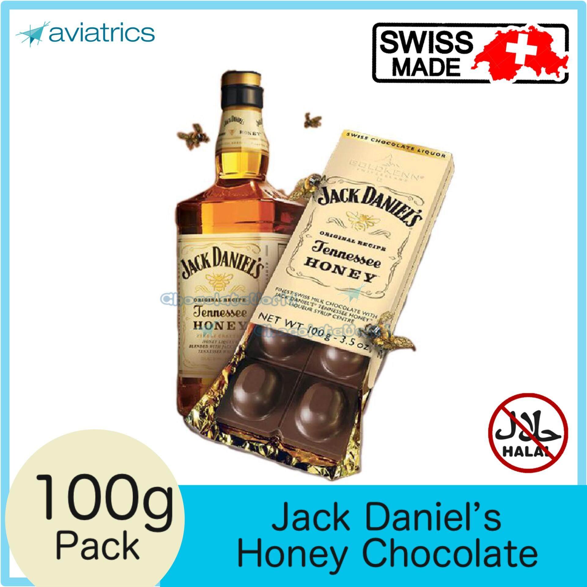 Goldkenn Jack Daniel's Tennessee Honey Swiss Milk Chocolate 100g (Swiss Made)