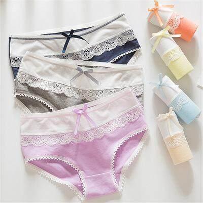 5 Pieces of Lace Comfortable Breathe Freely Women Ladies Panties Underwear Cute Comel Seluar Dalam Wanita Lace