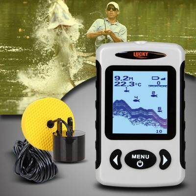 FF718 Wired Sonar Sensor Fish Finder Detector for Fishing (GRAY)