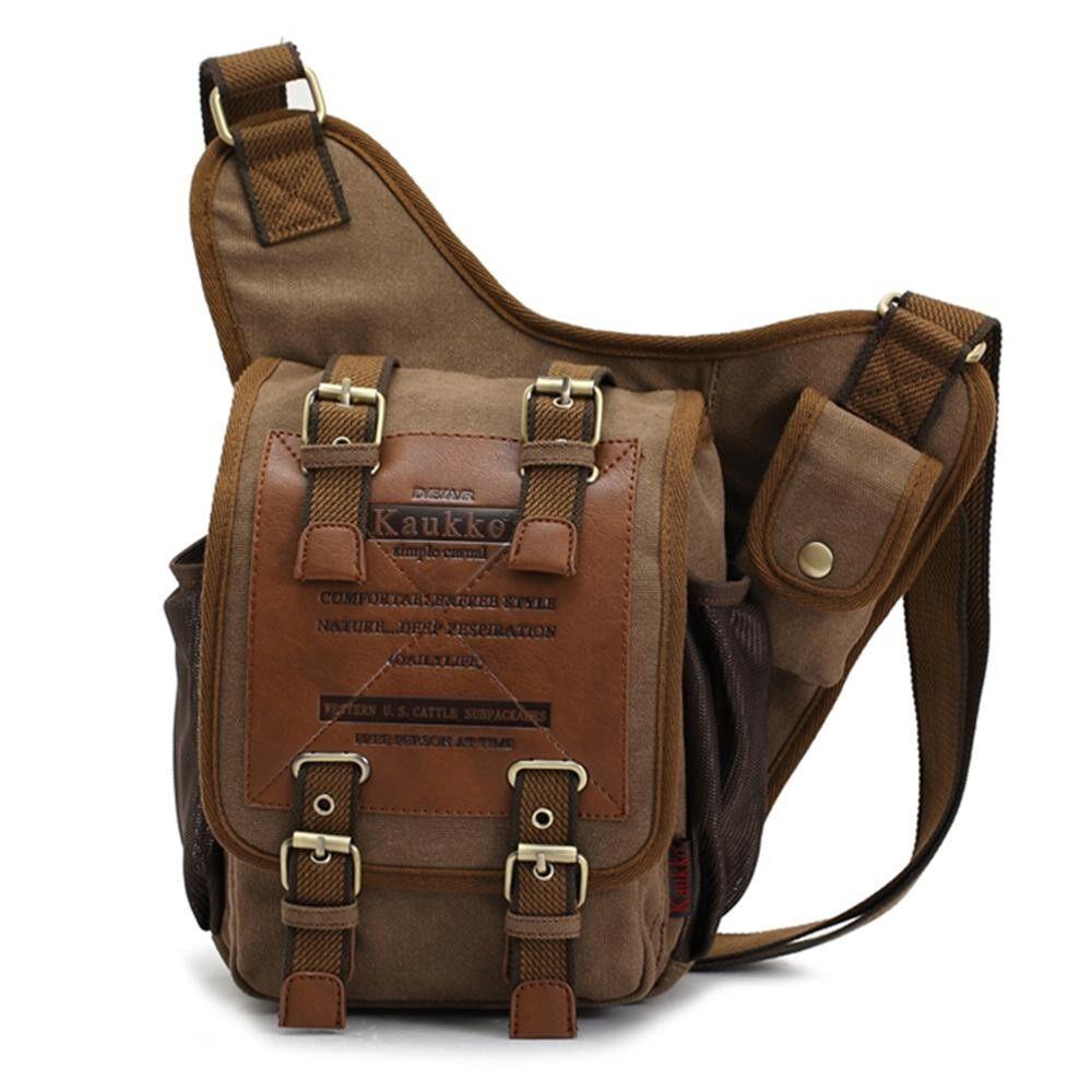 Kaukko Casual Shoulder Bag Sports Canvas Handbag Crossbody Messenger Bag Sling Chest Pack - Intl By Tdigitals.