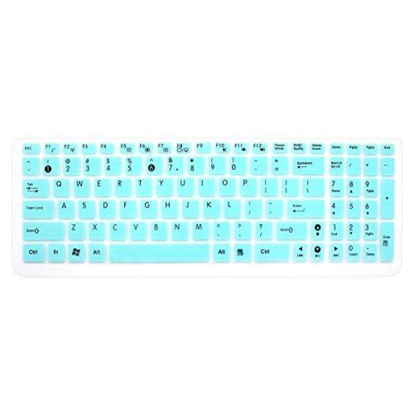 Silicone Keyboard Cover Skin for 15.6 inch ASUS GL552VW K501UX K501LX K501UW F554LA F555LA F555UA F556UA P2540UA GL502VS GL752VW UX501VW X540LA X550ZA Q503UA Q552UB X540SA R556LA N551JQ (Mint Blue)