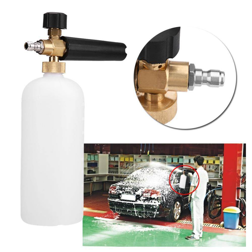 Justgogo 1/4 Adjustable Snow Foam Lance Washer 1L Bottle Car Wash Nozzle Sprayer Pressure Car Washer - intl