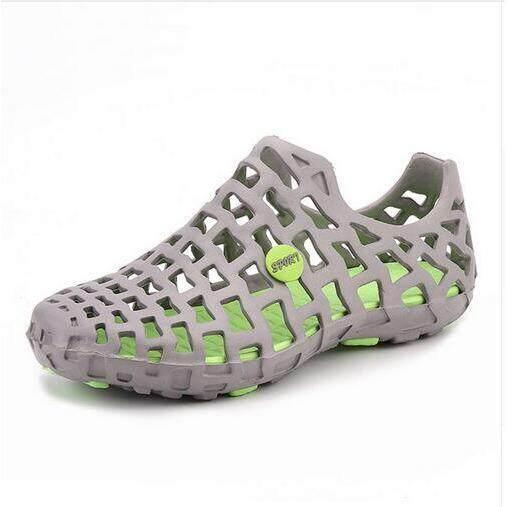 Ajusen Uni Breathable Beach Sandals Couples Hollow Out Men Womens Garden Hole Shoes