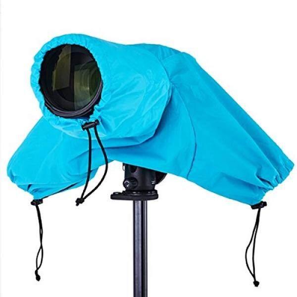 Haoge Tahan Air Pelindung Hujan Pelindung Kamera Yg Tahan Hujan dengan Tertutup Tangan Lengan untuk Canon Nikon Sony Olympus Pentax Panasonic Digital Kamera SLR dan Lensa Biru -Intl