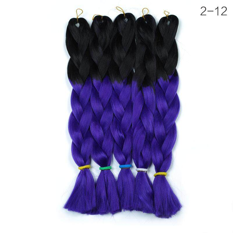 24 inch African Style Soft Ombre Dreadlocks Twist Braids Hair Extensions - intl