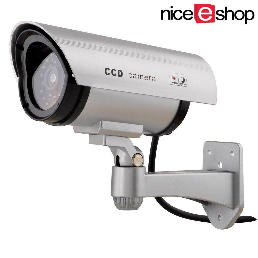 Dummy cameras buy dummy cameras at best price in malaysia www niceeshop waterproof outdoor fake dummy security camera with blinking light silver mozeypictures Images