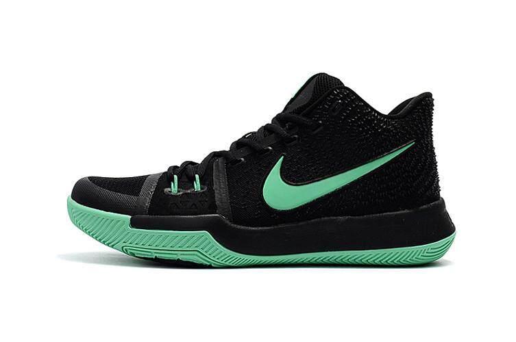 Boston Celtics #11 Kyrie Irving Black Green Sneaker Sport Shoe Kyrie 3 Kyrie III Mid Top NBA Basketball Shoe Offical Women's Elite Comfortable Best Quality Non-Slip Size:36 - intl