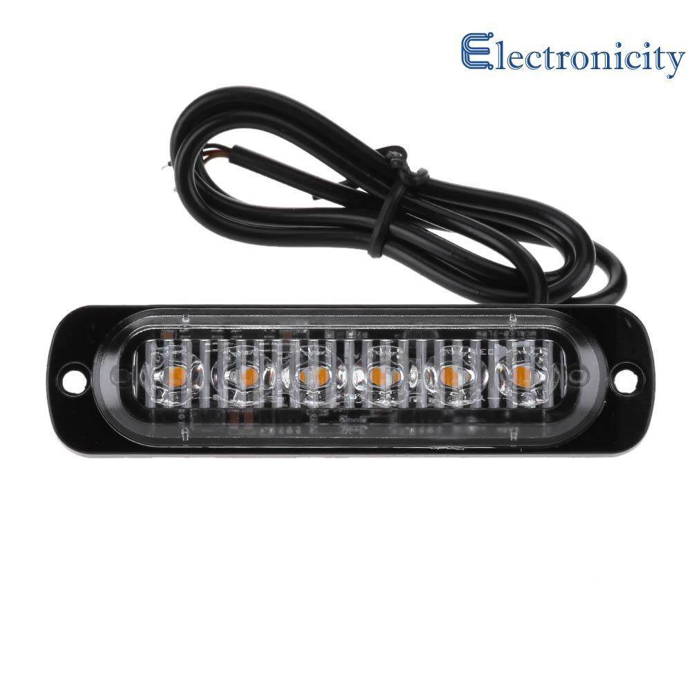 The Price Of Ujs 8pcs Set Led Car Strobe Lights 16w Wire Control Power 12 24v 6led Slim Flash Light Bar Vehicle Emergency Warning Lamp Intl