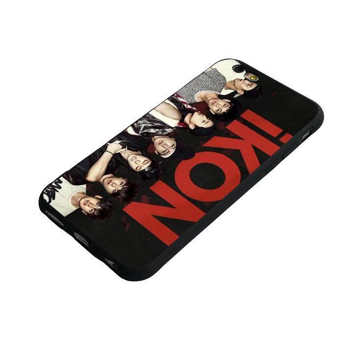 Ikon Kpop 1 (3) Lembut Kasus Telepon untuk iPhone 6 Plus/6 S Plus-Internasional