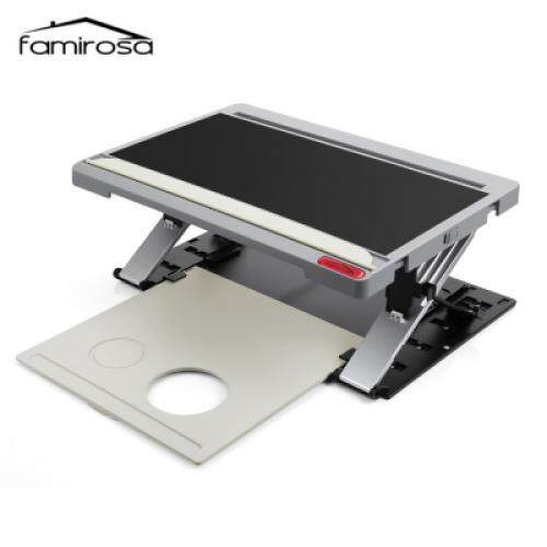 Famirosa Portable Laptop Computer Standing Desk Tablet Holder (BLACK)