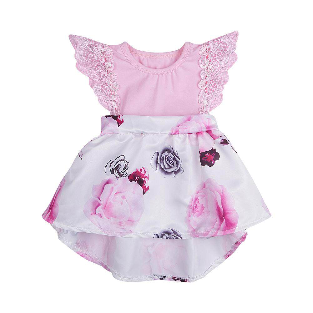 Girls Dresses For Sale Baby Online Brands Dress Tutu Flower Pink 0 2th Star Mall Girl Lace Stitching Printing Skirt Soft Cotton Princess