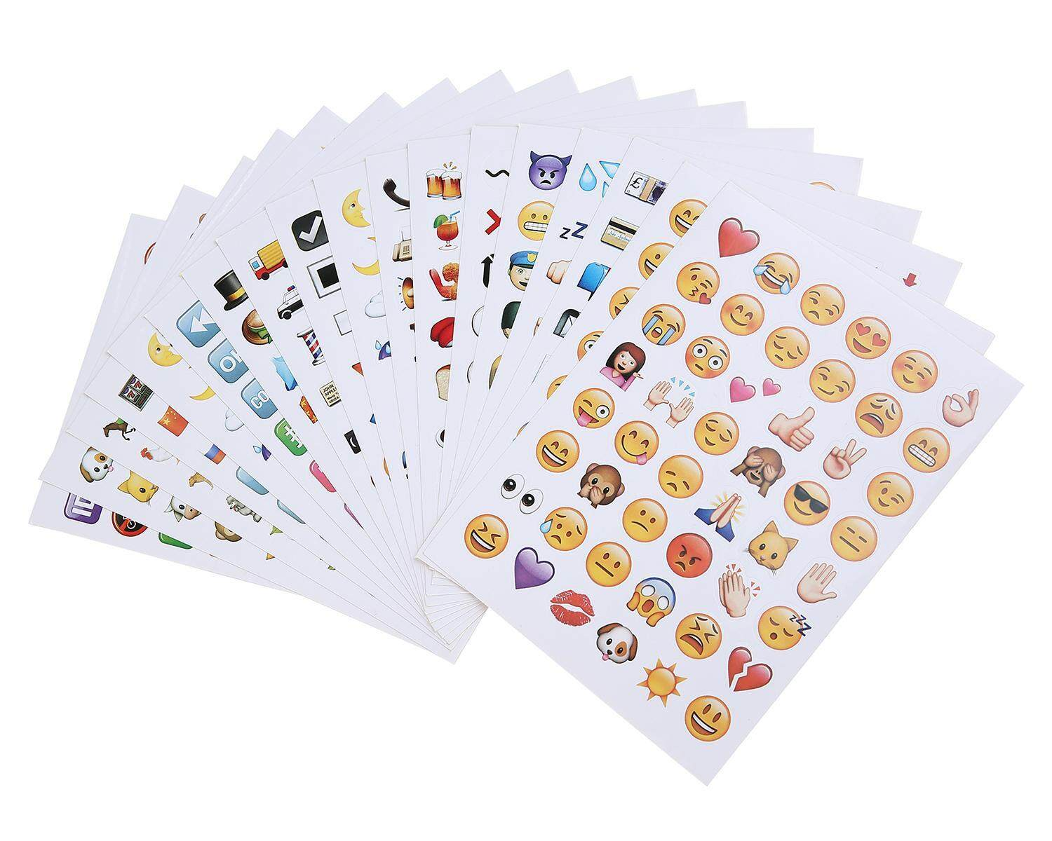 qooyonq Emoji Stickers 19 Sheets 912 With Happy Faces Kid Stickers For Phone Facebook Twitter - intl
