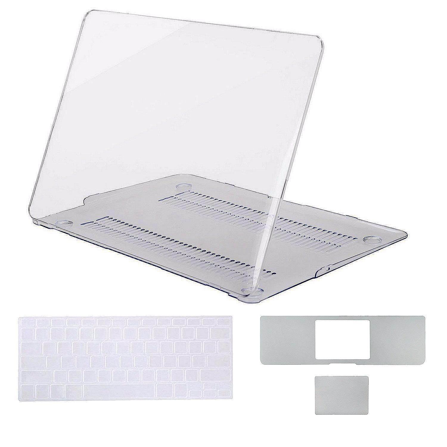 MacBook Air 13 Inch A1369/A1466 Hard Shell Case [3 in 1 Bundle] Keyboard cover, All-inside 13 inch Palm Rest Cover with Trackpad Protector Sticker