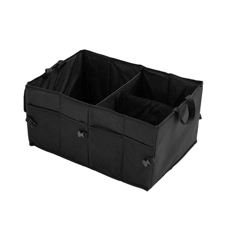 Car Auto Waterproof Foldable Black Car Boot Organizer Storage Bag Protable Auto Storage Box Multi-Use Tools Organizer - Intl By Watson.