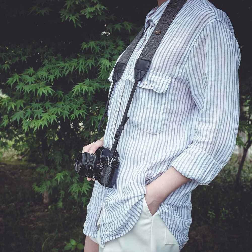Aksesoris Kamera Antik Bahu Leher Tali Kapas Tahan Lama Kamera Tali untuk Sony Nikon Canon Olympus DSLR Kamera-Internasional