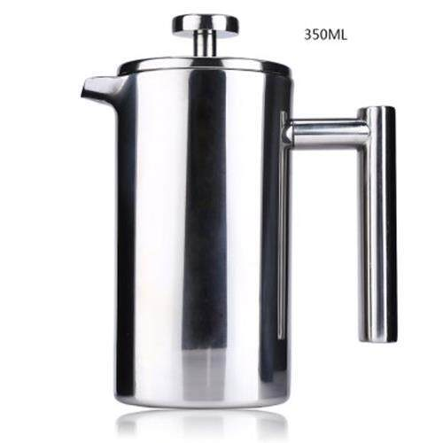 350ML STAINLESS STEEL INSULATED COFFEE TEA MAKER WITH FILTER DOUBLE WALL (SILVER)
