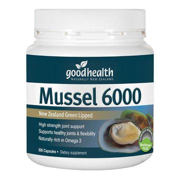 NEW ZEALAND GREEN LIPPED MUSSEL 6000 (300 Cap)