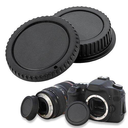 Camera Body Cap and Rear Lens Cover Cap for Canon EOS