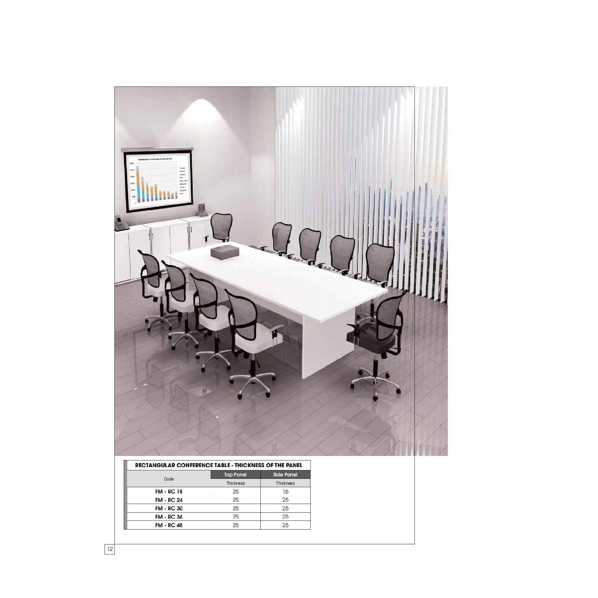 (FREE Delivery Klang Valley) Meeting Conference Table 48 x 48 FT (For 48  Person)