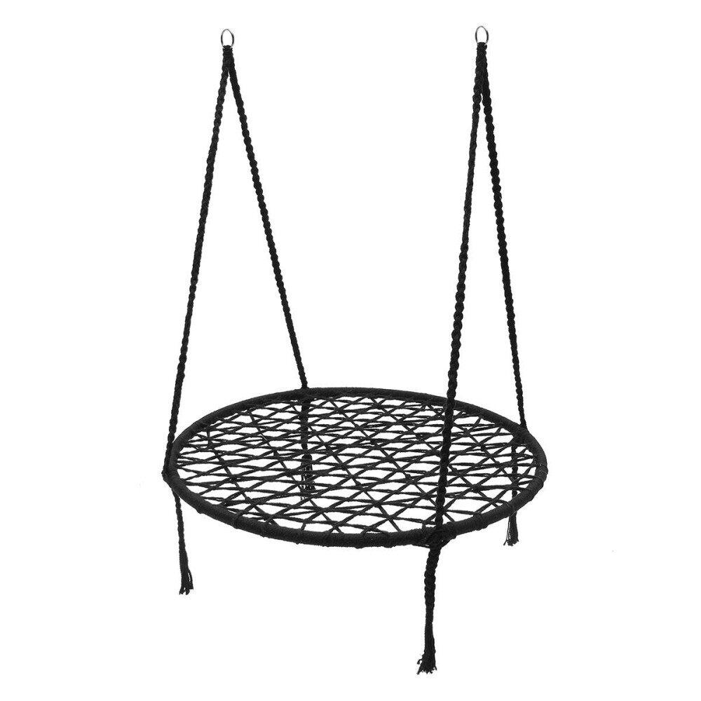 Macrame Nest Swing Hammock Chair Relax In Luxury Comfort Handmade Black Morocco By Glimmer.
