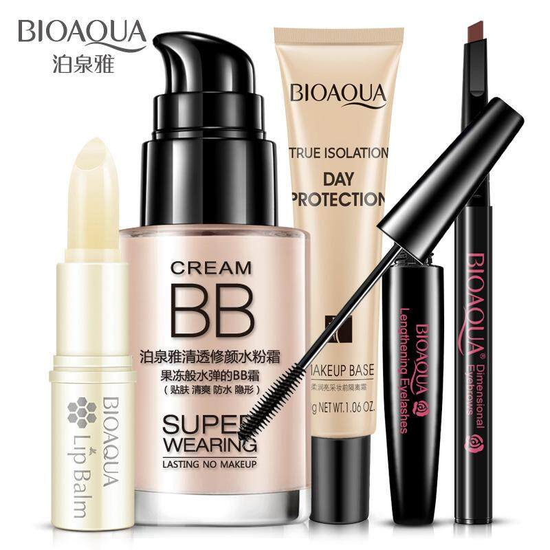 Bioaqua Bright Cosmetics Makeup Set Lip Balm Bb Cream Eyebrow Pencil Mascara Cream Makeup Base 5Pcs Intl Online