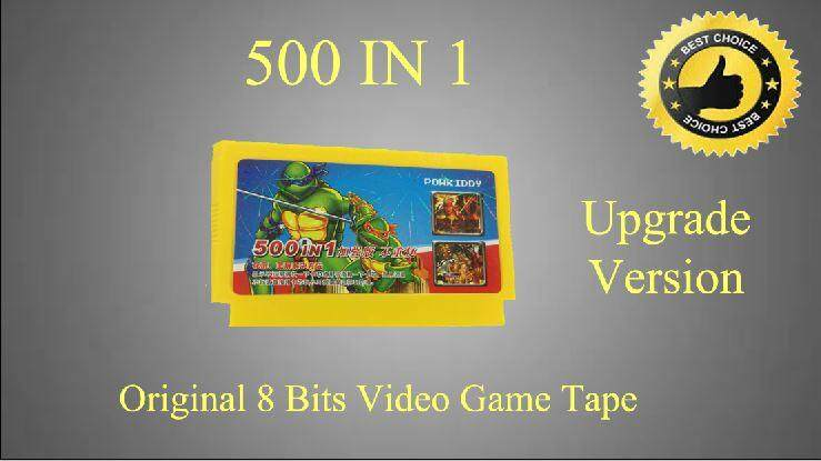 500 IN 1 Classic Video Game Cartridge Tape 8 bits Latest version