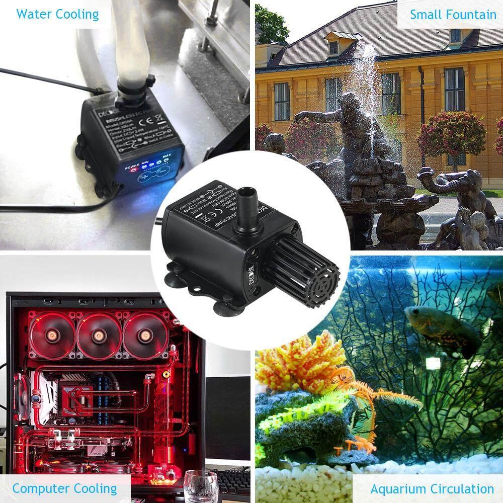 Anself Mini 12V 9W Brushless Water Pump 300L//H Lift 450cm for Fountain Aquarium