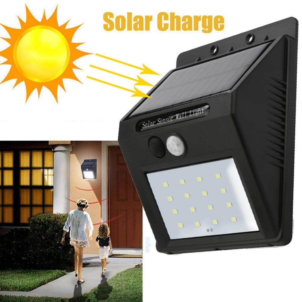 Buy Sell Cheapest 16 Led Solar Best Quality Product Deals Powered Garden Lamp With Light Sensor Power Pir Motion Wall Outdoor Waterproof Intl