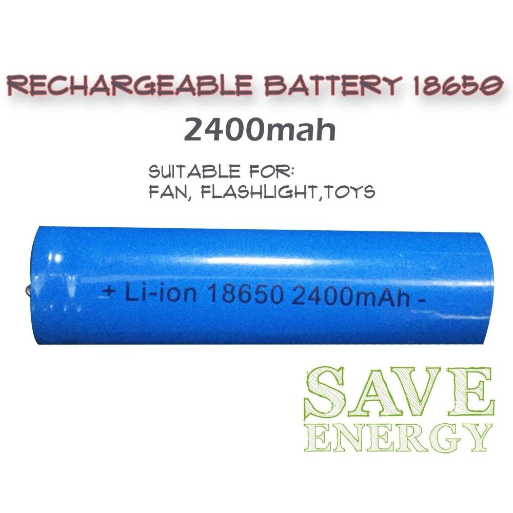 Rechargeable 18650 Li Ion 3.7v Battery 2400 mAH