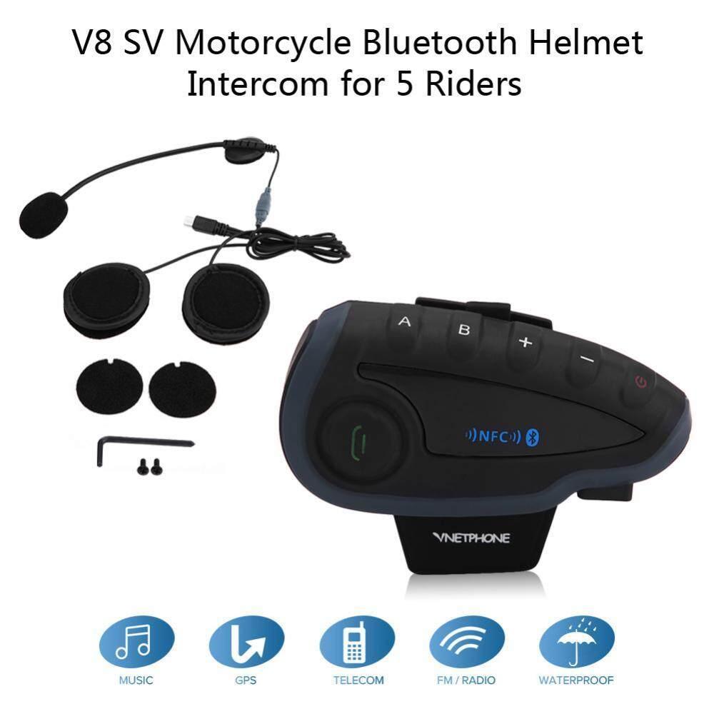 Justgogo V8 SV Sepeda Motor Bluetooth Headset Helm Interfon Interkom Remote Control 5 Pengendara