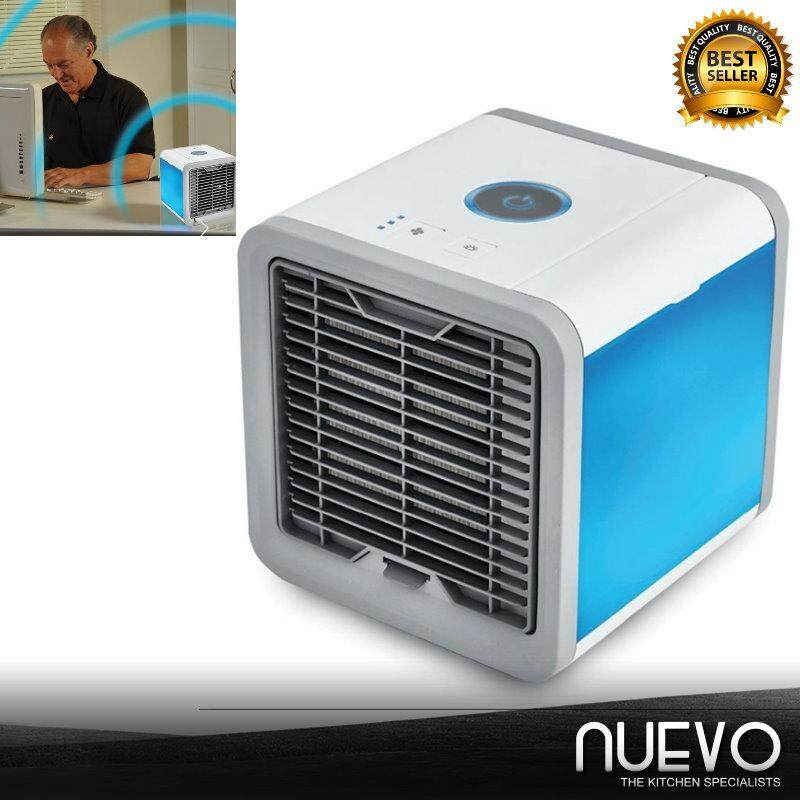 Nuevo Practical Air Cooler Electric Fan Mini Air Conditioner Humidifier Air Cleaner Night Light Home Office Appliance