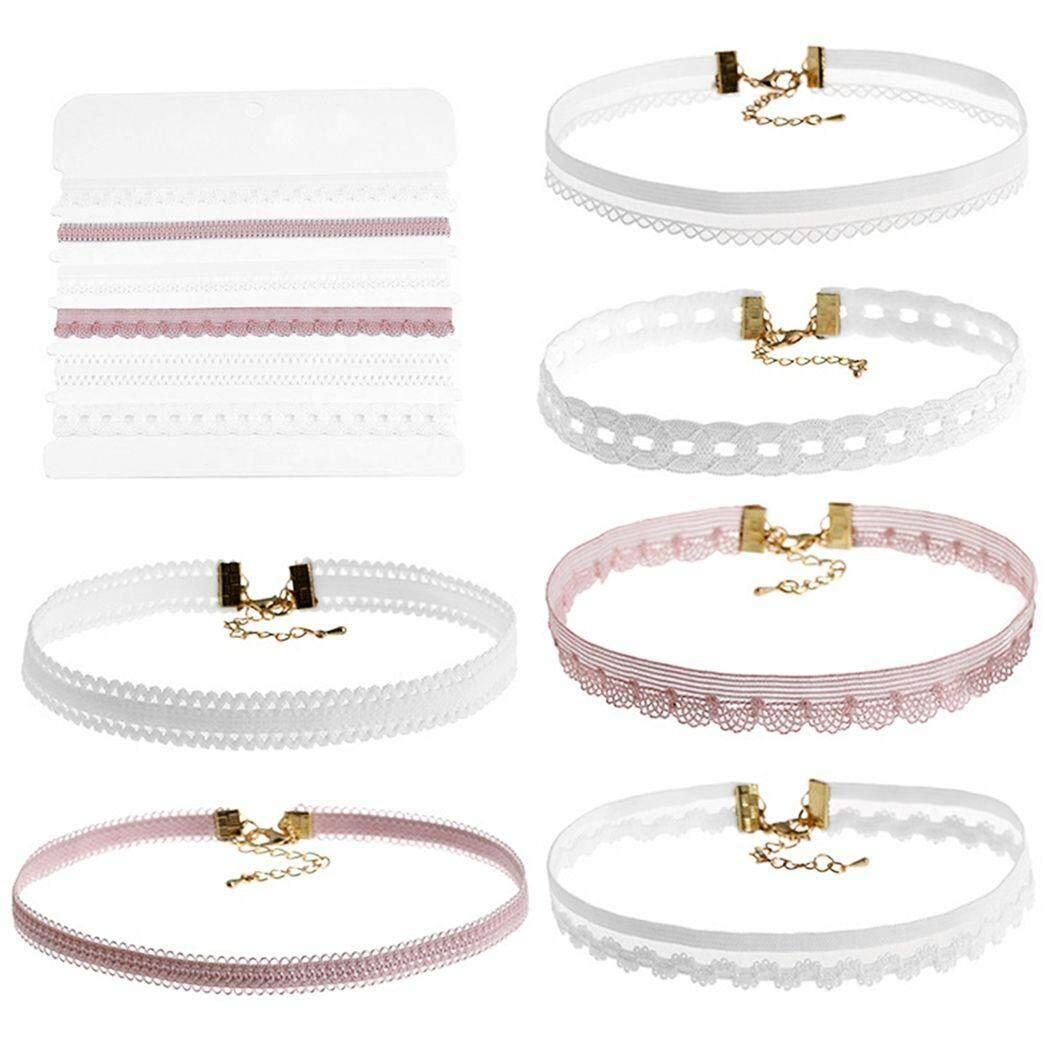 Free Shipping Multi - Color Lace Six - Piece Choker Necklace (Multicolor)