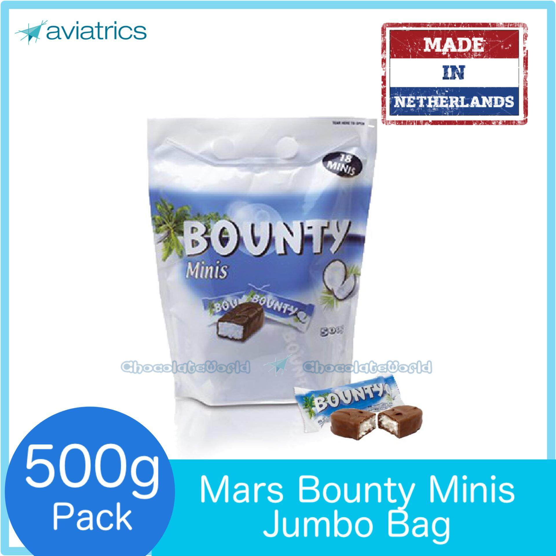 Bounty Minis Coconut Chocolate 500g 18pc (Made in Netherlands)