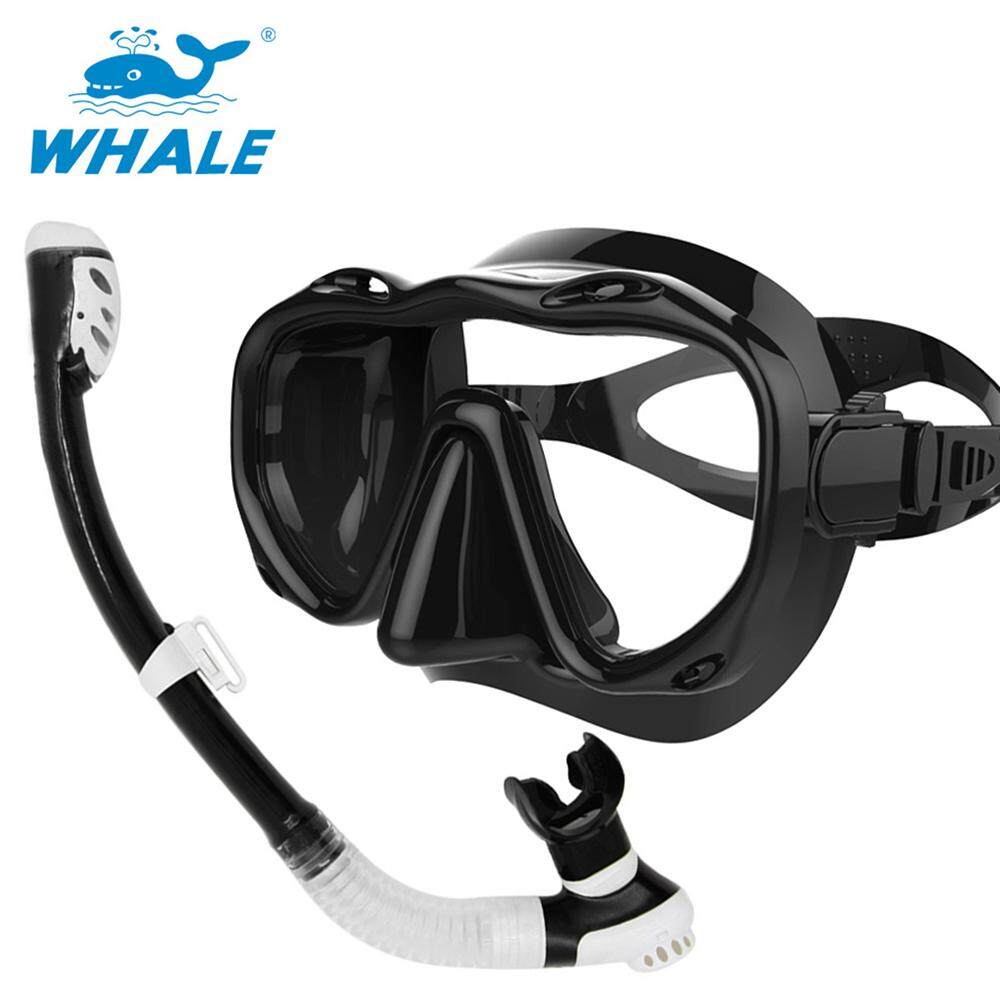 Underwater Full Dry Breathing Tube Diving Goggles Toughened Glass Mask Suit Diving Mask Snorkel Glasses Swimming