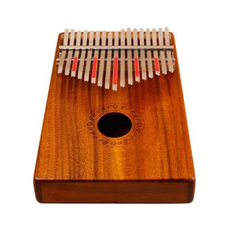 CECKO 17 Keys KOA Full Board Wood Finger Mbira Kalimba Keyboard Thumb Pocket Piano K17K Without Electric box