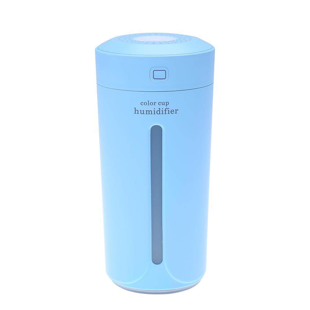 Ultrasonic Light Cup Aroma Humidifier Air Diffuser Purifier Atomizer(Blue)