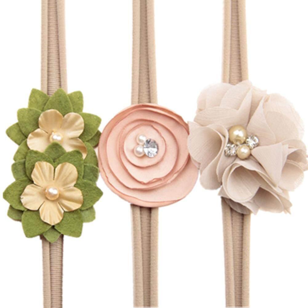 Star Mall Baby Girl Toddler Headband High Elastic Nylon Flower Design Little Girls Party Hair Delicate Band - intl