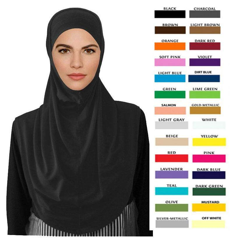 Tudung Syria plain lycra material for Muslimah