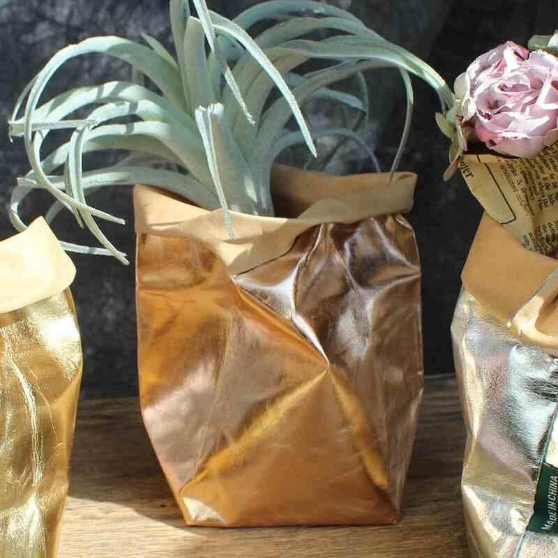8*8*15 Waterproof Kraft Paper Gift Candy Bag Vintage Wedding Storage Pack - intl