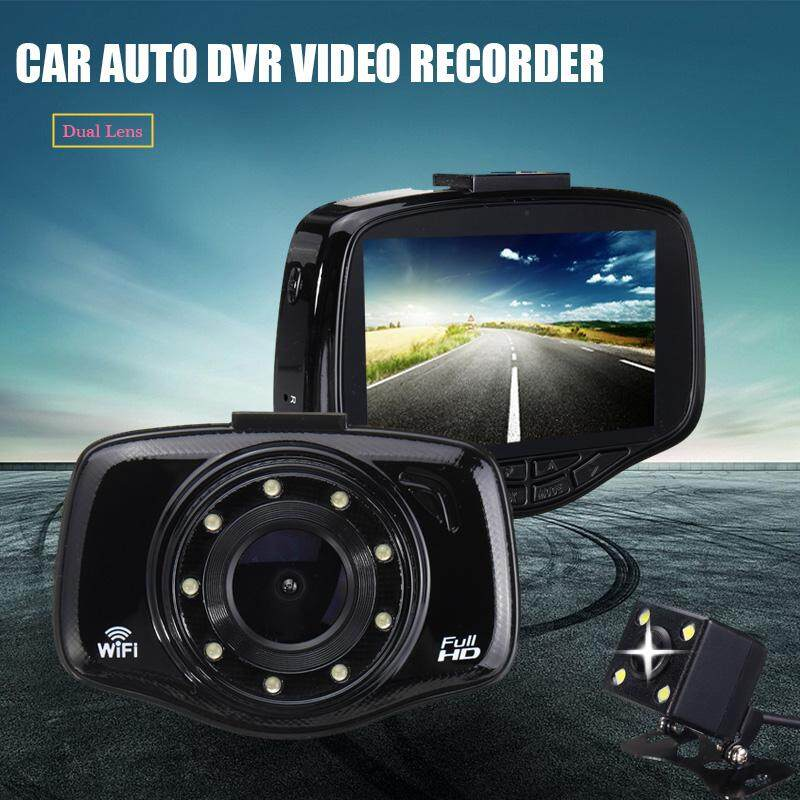 "HD 1080P 3.0"" Car DVR WIFI Rearview Camera Dash Cam Video Recorder Night Vision Black - intl"