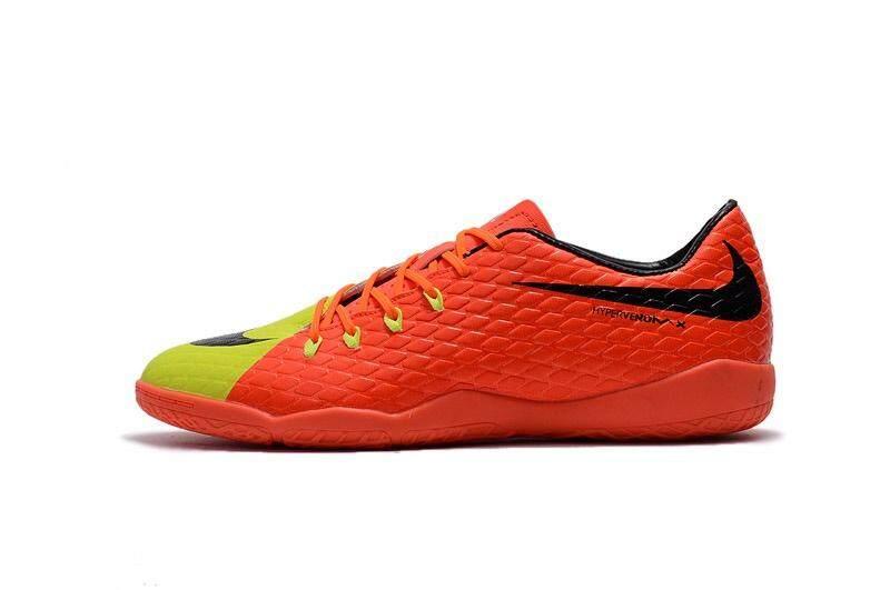 Popular Indoor Lace-up Football Shoes Hypervenom.Phantom Premium IC Low Cut Soccer Mens Size 39-45 Waterproof Football Sneakers (Orange/Yellow/Black) - intl