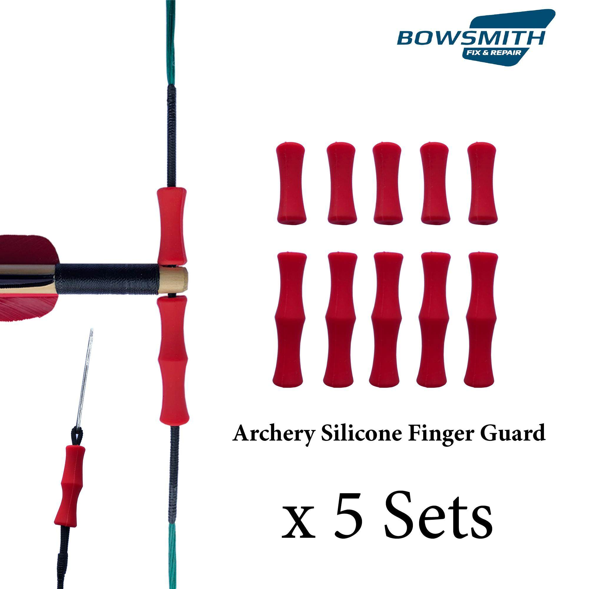 Archery Finger Guard Silicon Protector Arrow Bow String Shooting Finger Tab Glove