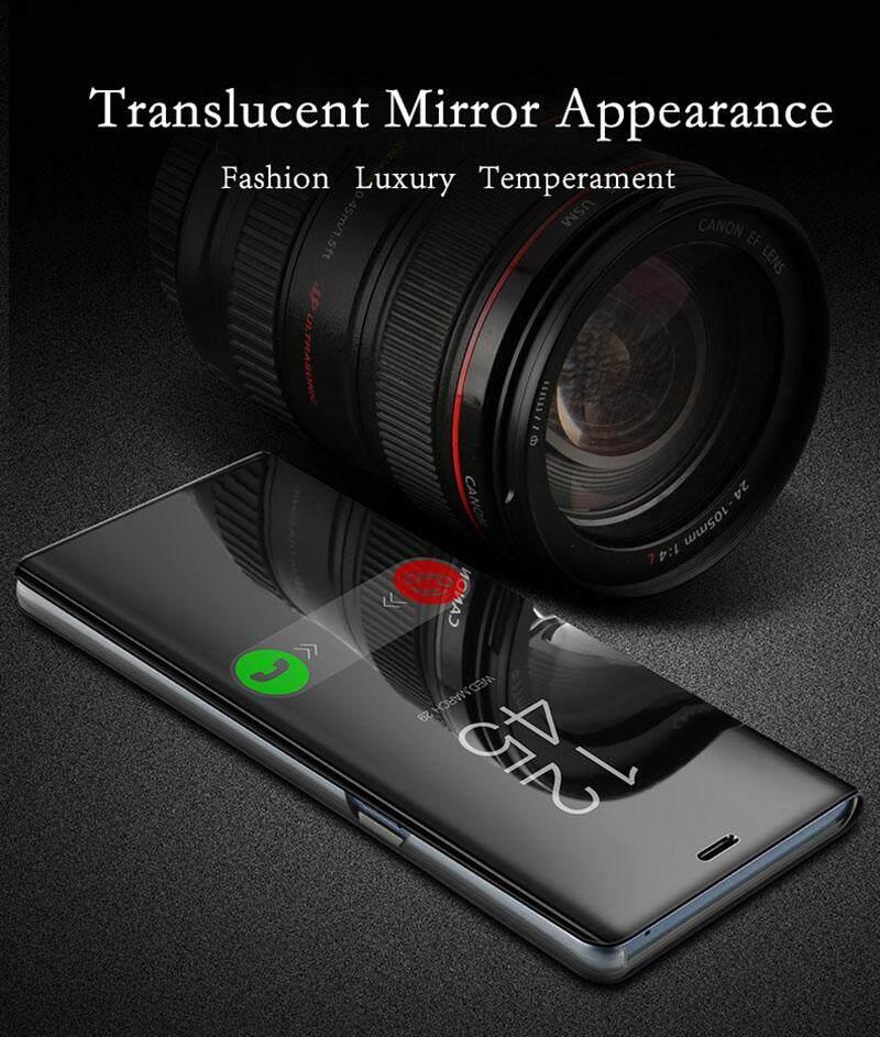 Luxury Mirror Clear View Smart Flip Case for VIVO V9 Leather Cover Casing for vivo V9 case Housing
