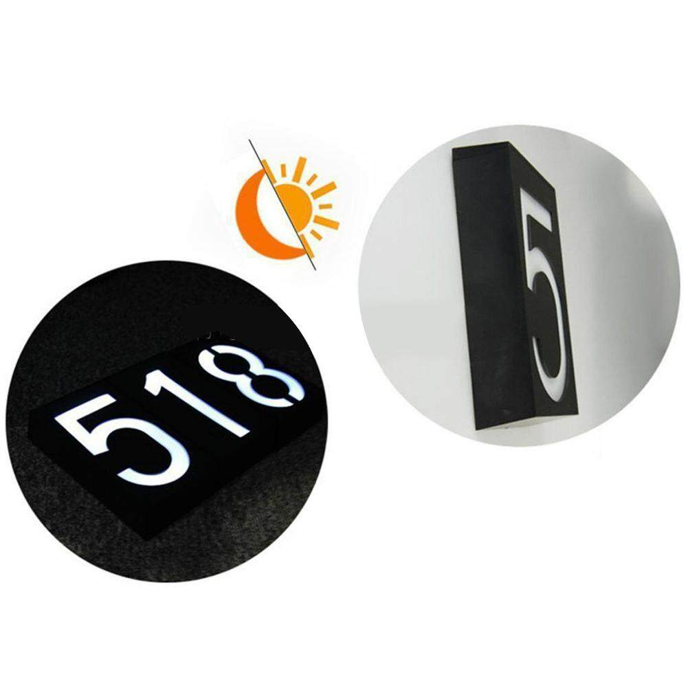 Solar Powered House Number Doorplate Lamp 6 LED Light-operated Wall Light Sign Lamp - intl Singapore