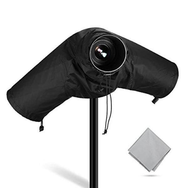 Powerextra Profesional Kamera Tahan Air Pelindung Hujan Pelindung untuk Perkakas Bertualang Pentax dan Digital Kamera SLR, bagus untuk Hujan KOTORAN Pasir Salju Perlindungan (Hitam)-Intl