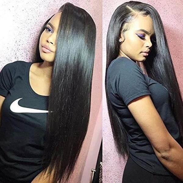 Jisheng Rambut Perawan Malaysia 7A Kelas Unprocessed Human Rambut Extensions Rambut Manusia Murah Menenun 4 Bundel Rambut Lurus Total 200G Warna Alami-Internasional